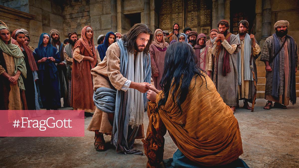 Jesus hilft einer Frau
