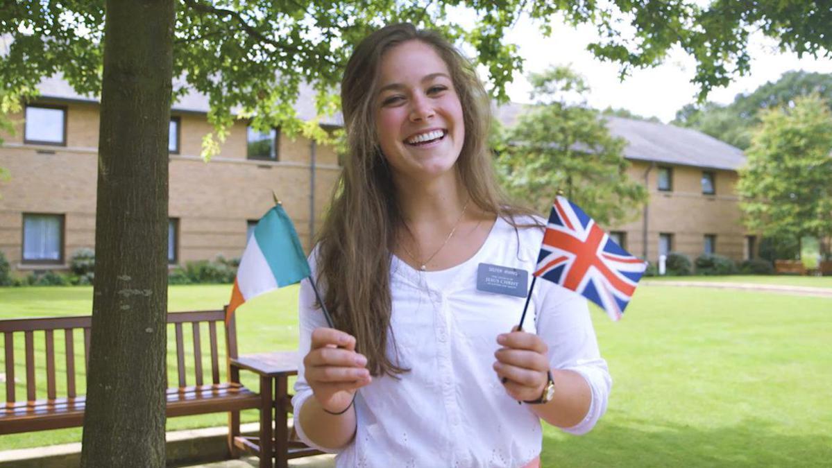 Una joven misionera en el CCM de Inglaterra