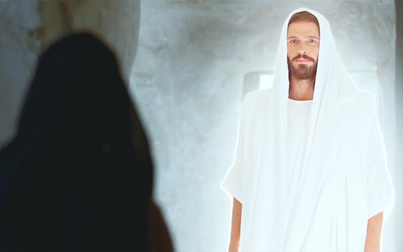 Zmartwychwstały Chrystus ukazuje się Marii w grobowcu