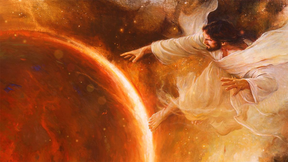 Jeesus luomassa maailmaa.