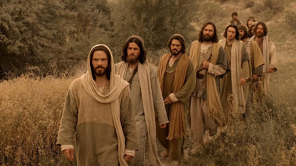 Jésus-Christ dirigeant ses disciples.