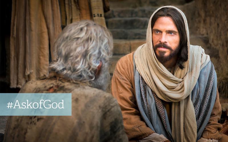 Jesus Kristus og mand i laset tøj