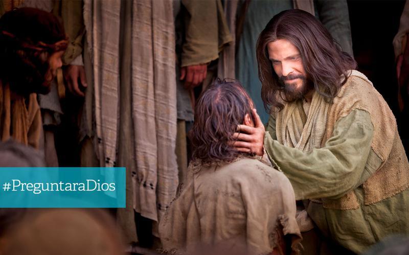 Jesucristo sana a un ciego