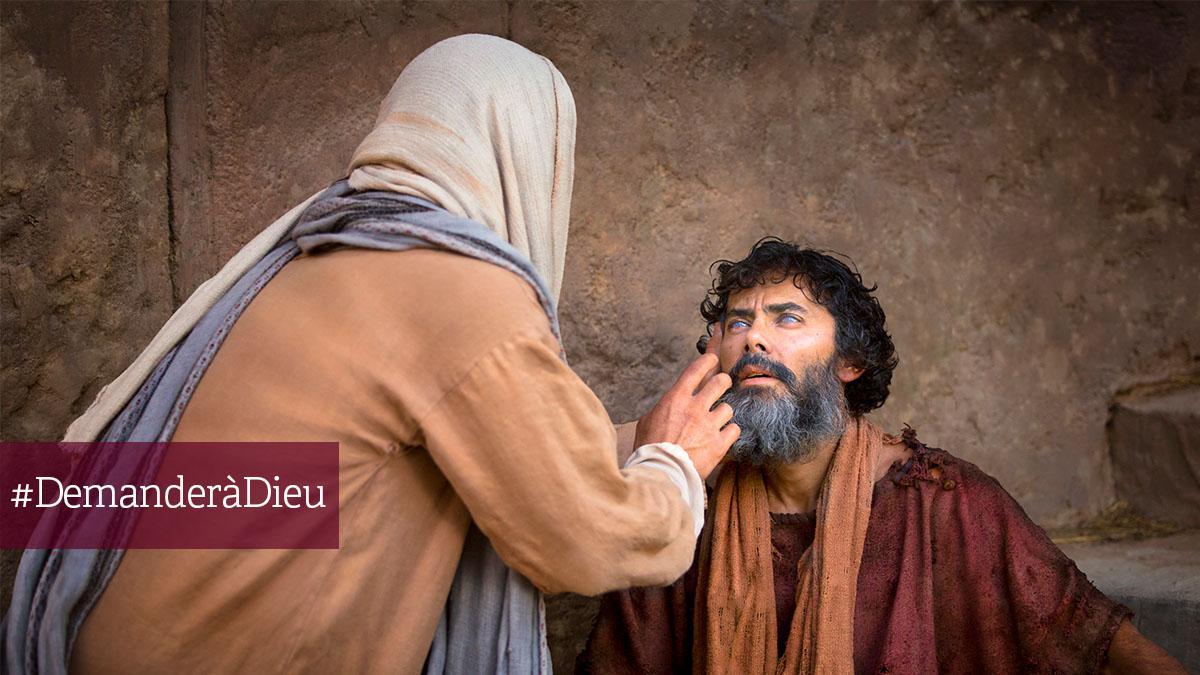 Jésus qui guérit l'aveugle