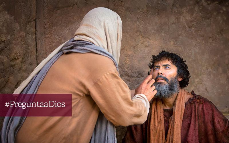 Jesús sana a un ciego
