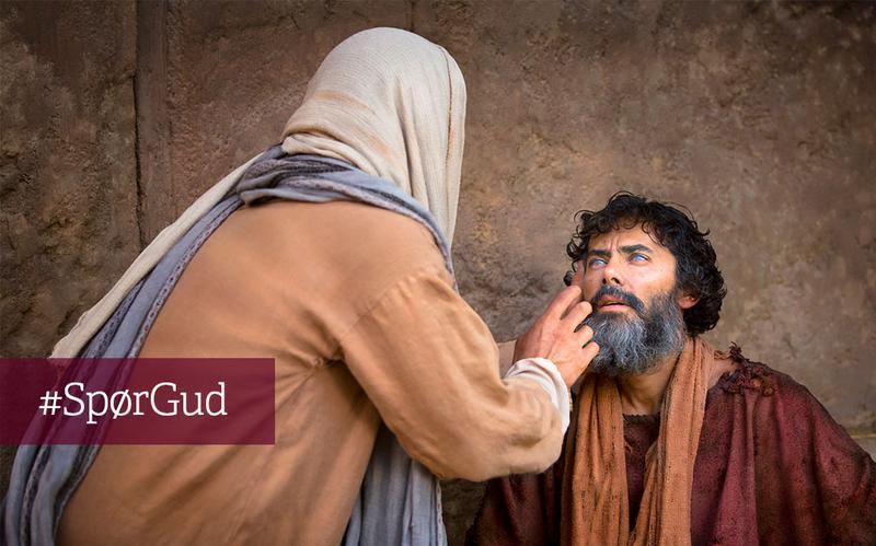 Jesus helbreder en blind mann