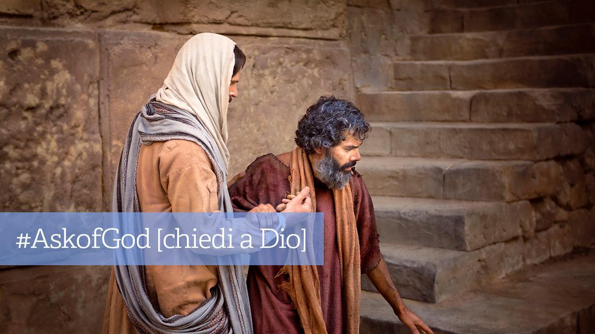 Gesù Cristo aiuta un povero