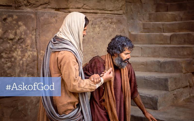 Jesus hjælper mand