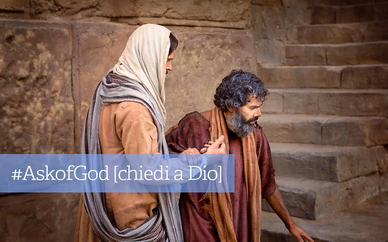 Gesù Cristo che consola un uomo