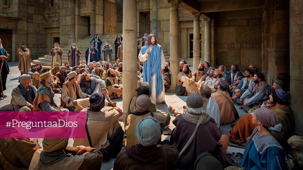 Jesus helps a woman