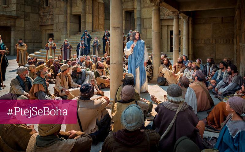Ježíš Kristus učí zástupy