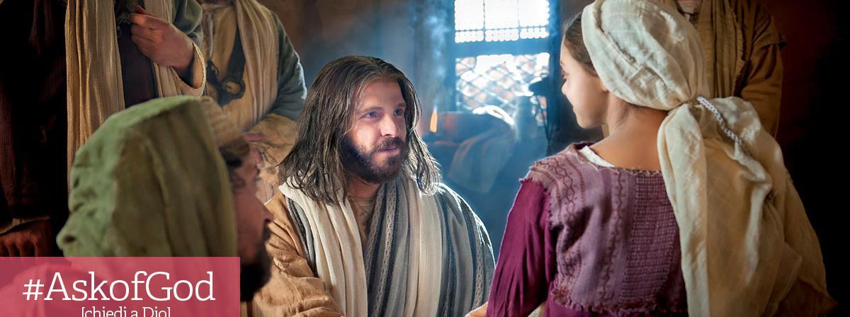 Gesù Cristo che consola una donna