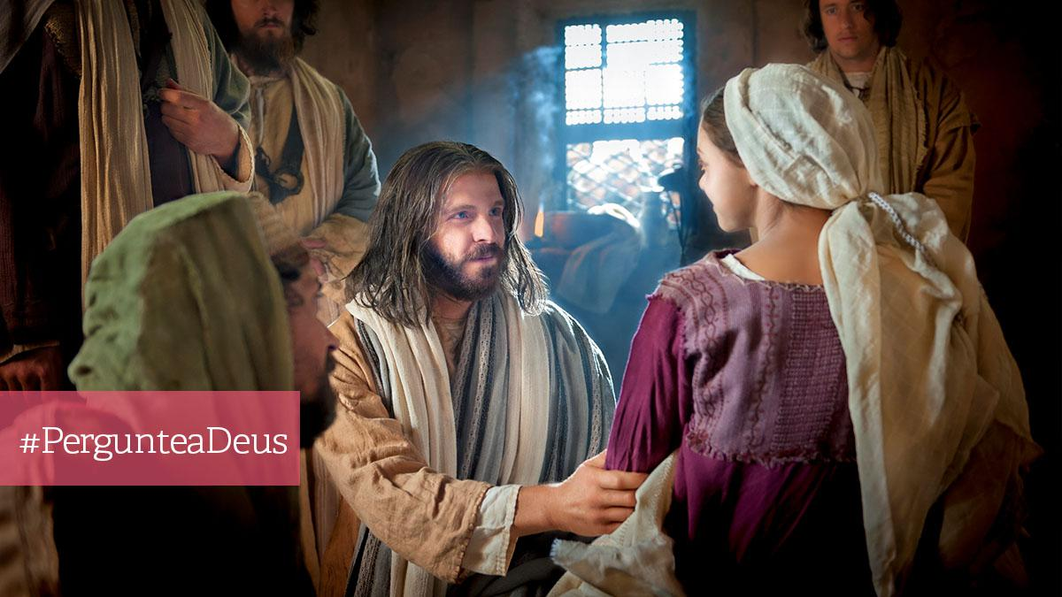 Jesus Cristo com uma família