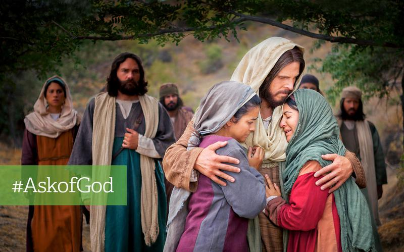 Jesus comforts the weary