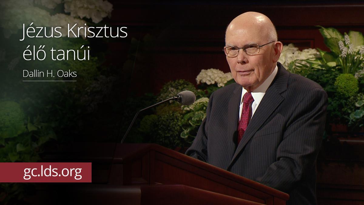 Jézus Krisztus élő tanúi – Oaks elder