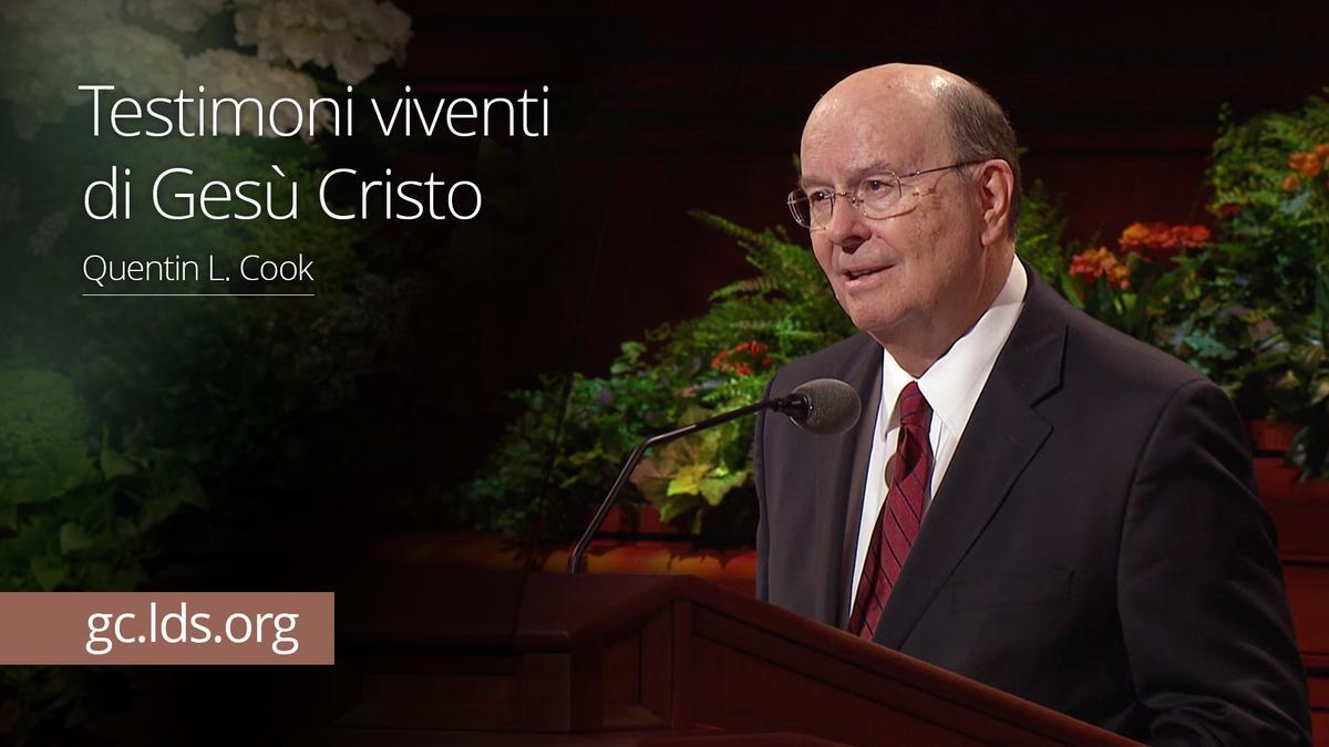 Testimoni viventi di Gesù Cristo – Anziano Cook
