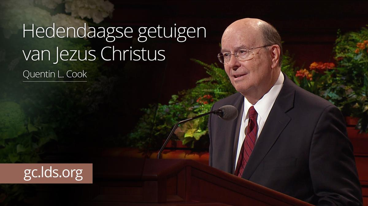 Hedendaagse getuigen van Jezus Christus – ouderling Cook