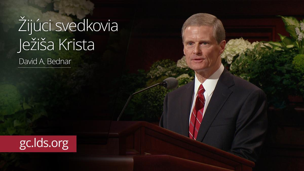Žijúci svedkovia Ježiša Krista – Starší Bednar
