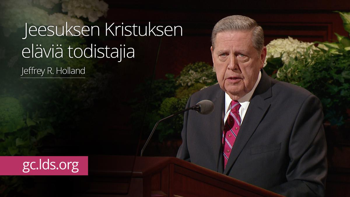 Jeesuksen Kristuksen eläviä todistajia – vanhin Holland