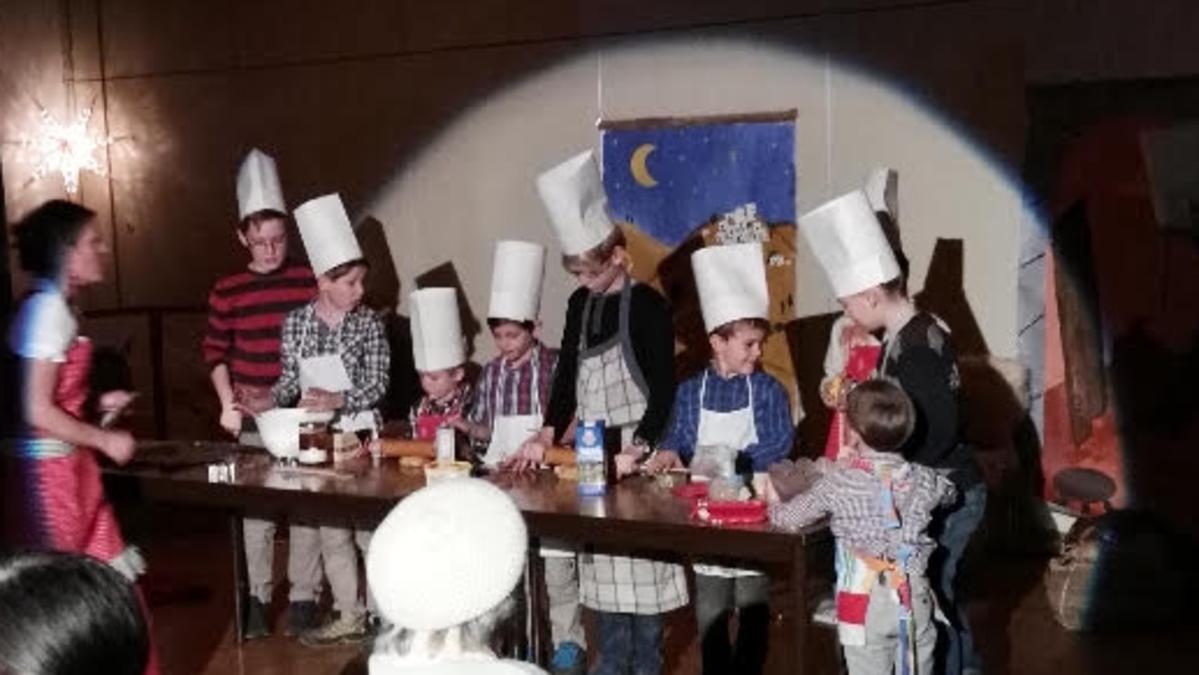 'Weihnachtliche Backstube' mit den Kindern der Primarvereinigung