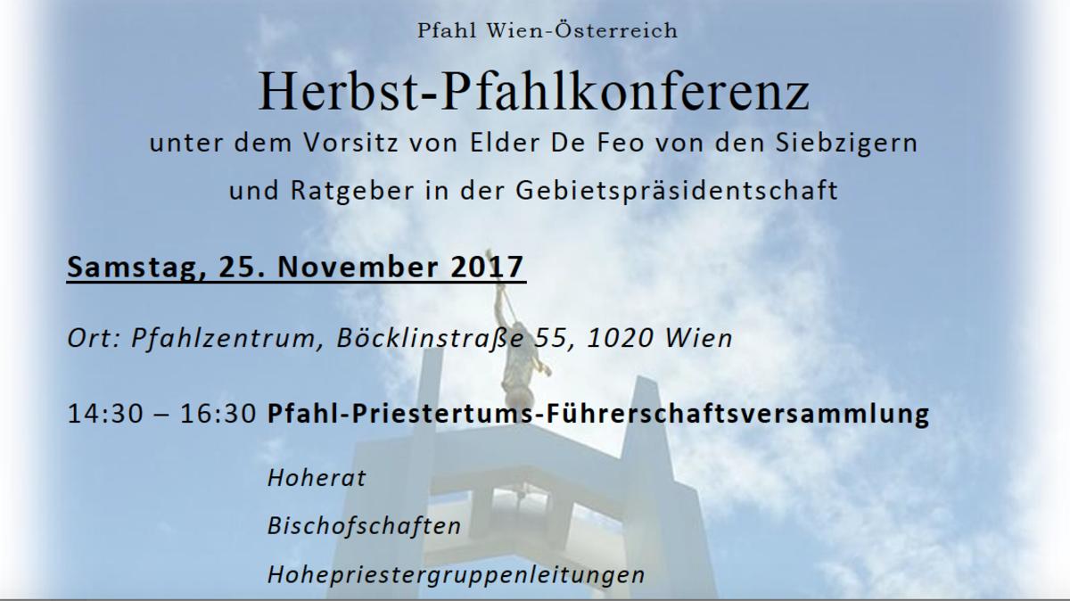 Einladung zur Pfahlkonferenz Wien