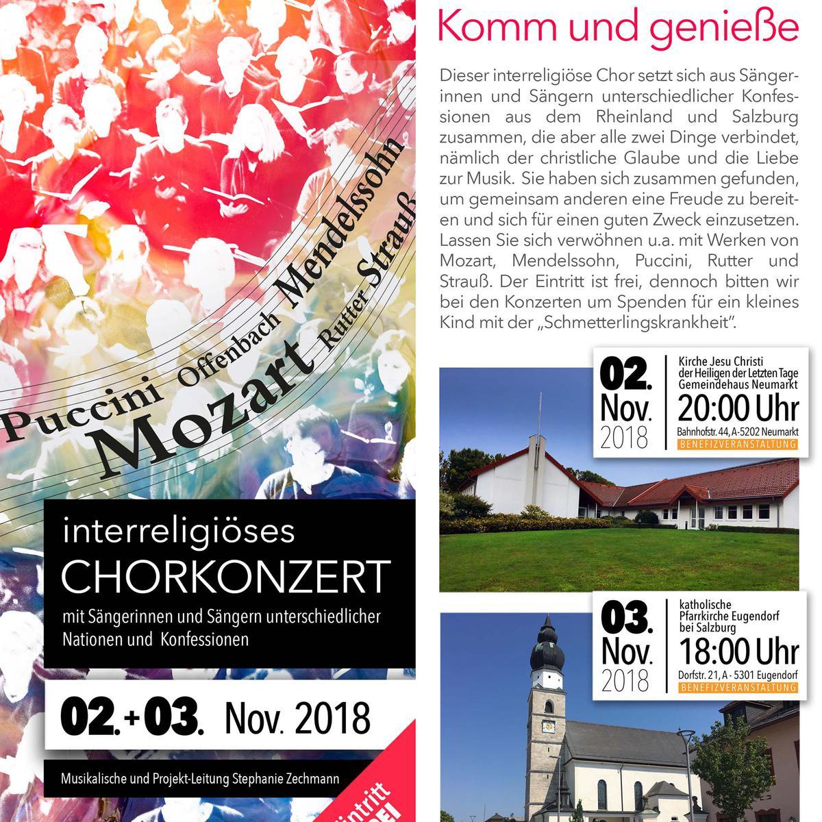 Interreligiöses Chorkonzert Neumarkt und Salzburg