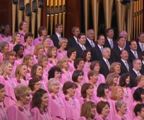 Der Mormon Tabernacle Chor singt im Konferenzzentrum in Salt Lake City