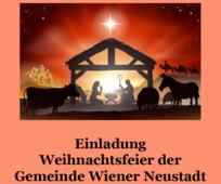 Einladung zur Weihnachtsfeier der Gemeinde Wiener Neustadt