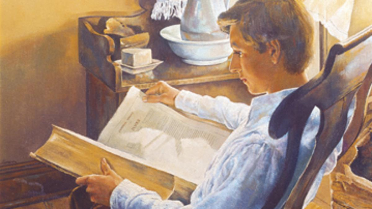 Joseph Smith liest in der Bibel, Jakobusbrief