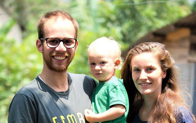 Sören Lex mit Ehefrau Marcella und Sohn Levi