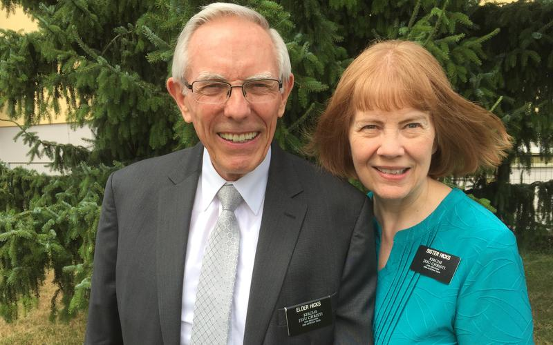 Elder und Sister Hicks als Missionare in Klagenfurt