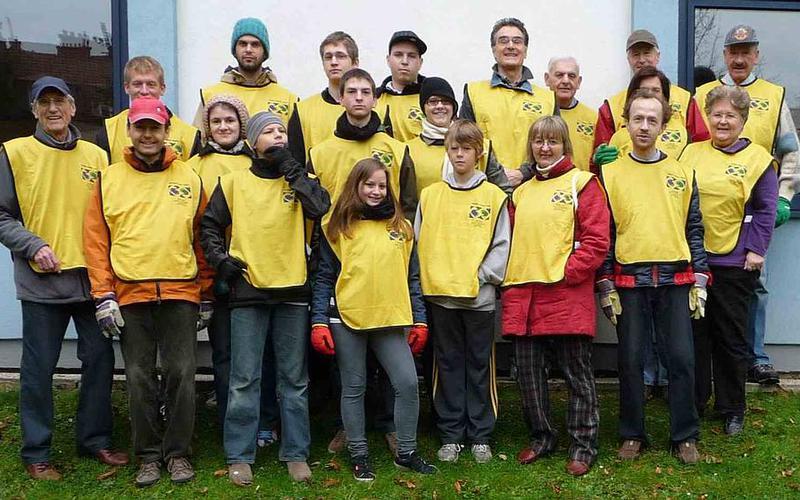 Mitglieder aus der Gemeinde Wien 1 bei einem Dienstprojekt