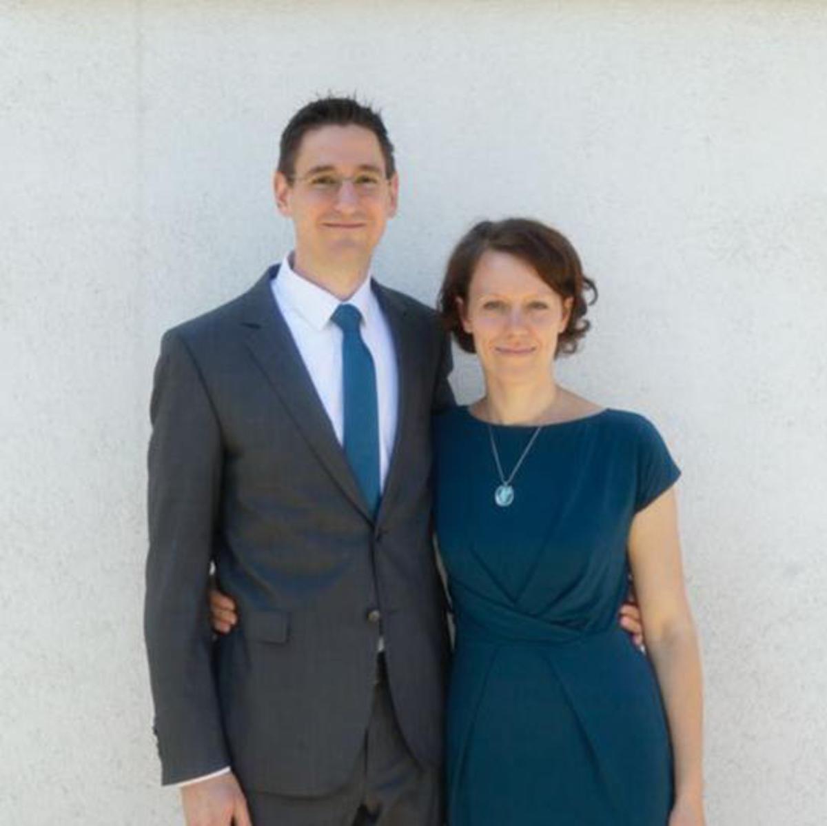 Simon und seine Frau Tamara Soucek