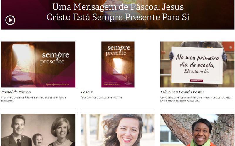"""Iniciativa Mórmon da Páscoa Recorda-nos que Jesus Cristo está """"Sempre Presente"""""""