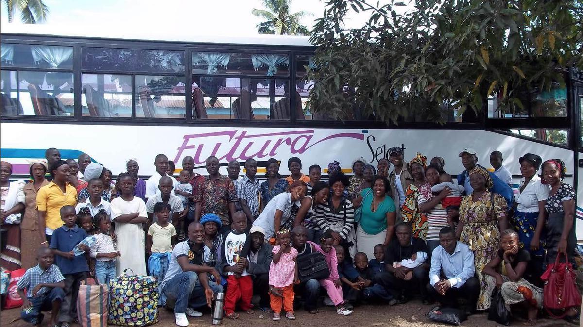 Boevo hramsko putovanje prije odlaska na petodnevno putovanje u Accru.