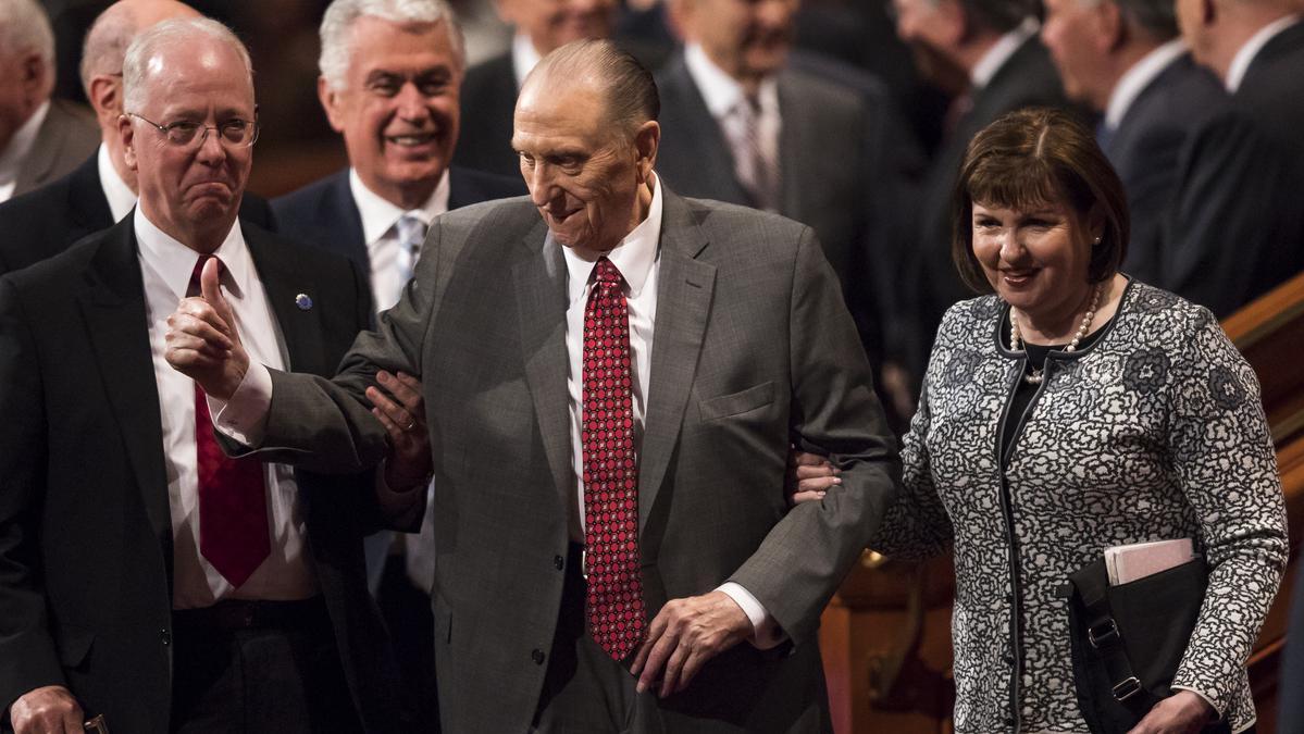 Predsednik Monson praznuje 90. rojstni dan