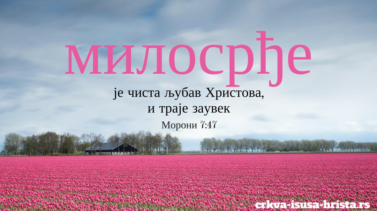 Mилосрђе је чиста љубав Христова, и траје заувек.