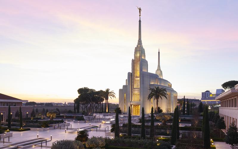 Prorok je posvetio hram u Rimu, Italija