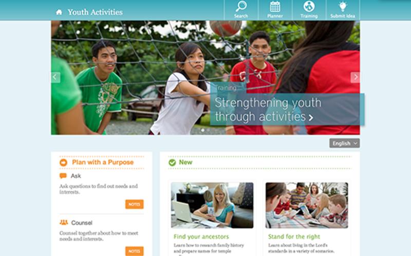 Hjemmeside for unge