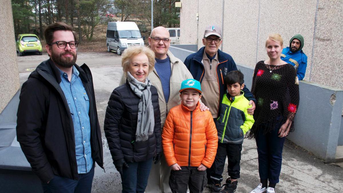 Turvapaikanhakijoiden avustusprojekti Raumalla keväällä 2016