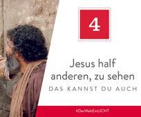 Jesus half anderen, zu sehen