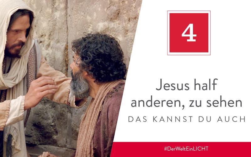 Jesus half anderen zu sehen