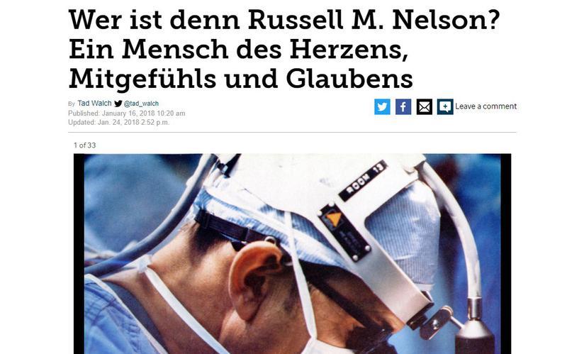 US-Tageszeitung veröffentlichte lesenswerten Artikel über Präsident Nelson auf Deutsch