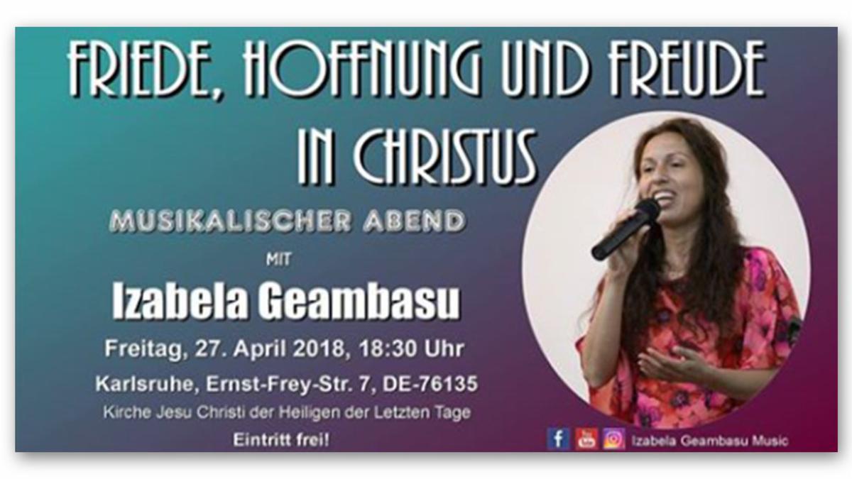 Musikalischer Abend mit Izabela Geambasu