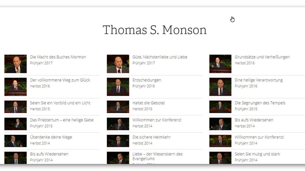 Monson verstorben Ansprachen seit 1991