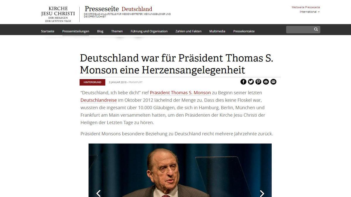 Monson verstorben Deutschland Presseseite