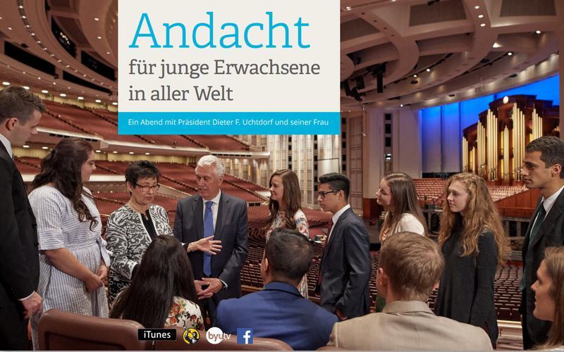Andacht für junge Erwachsene in aller Welt im Januar 2018 mit Präsident Uchtdorf