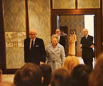 Präsident Ezra T. Benson während seines Besuchs in Österreich am 19. April 1980.