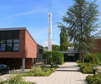 Das Gemeindehaus in Darmstadt, Richard-Wagner-Weg 78.