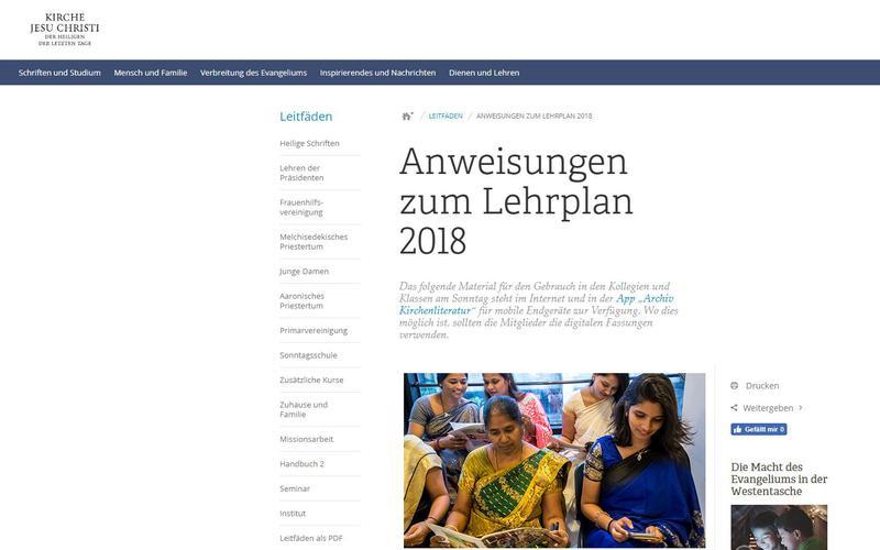 Lehrplan 2018
